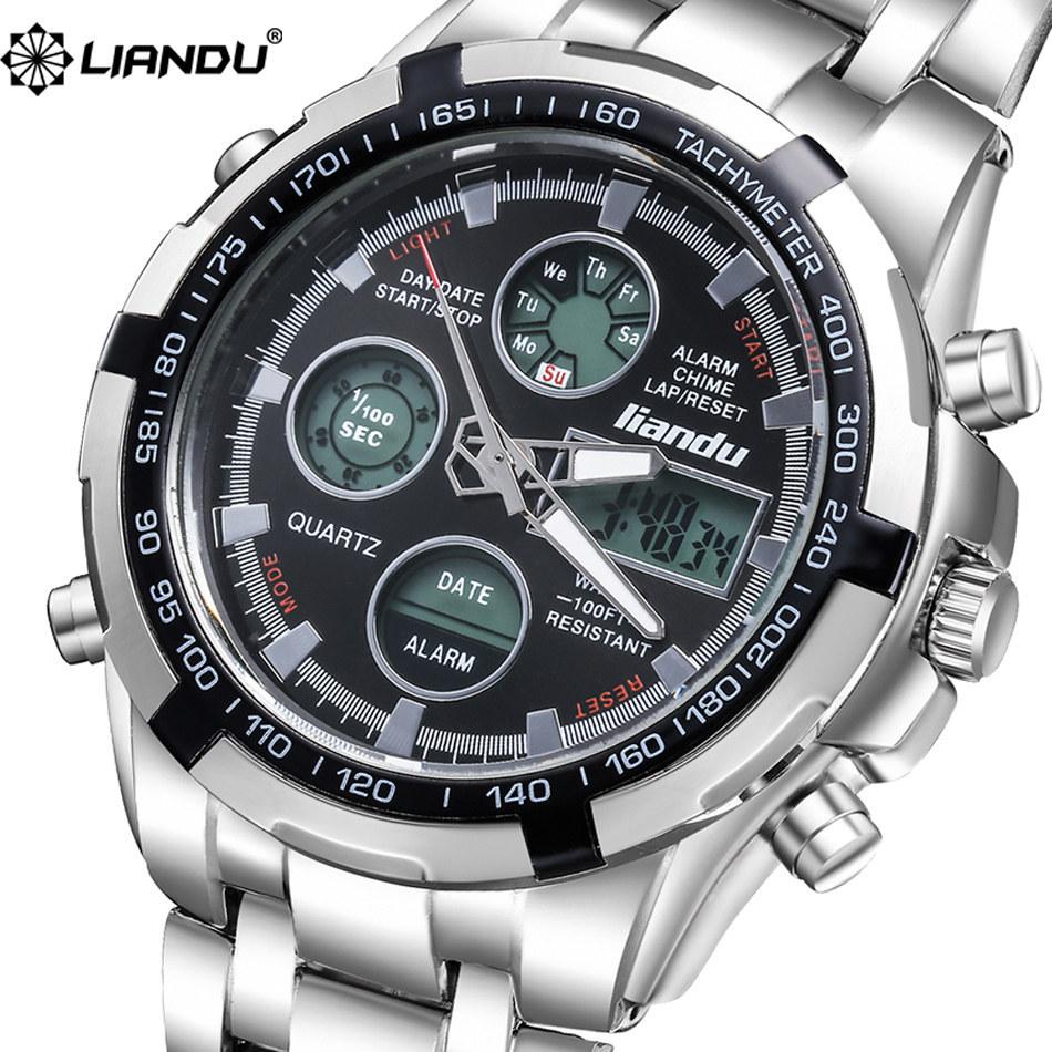 LIANDU Men's Sports Watch Sapphire Glass Waterproof Luxury Watch relogio masculino Watch Mens Luxury Brandreloj Deportivo Hombre(China (Mainland))