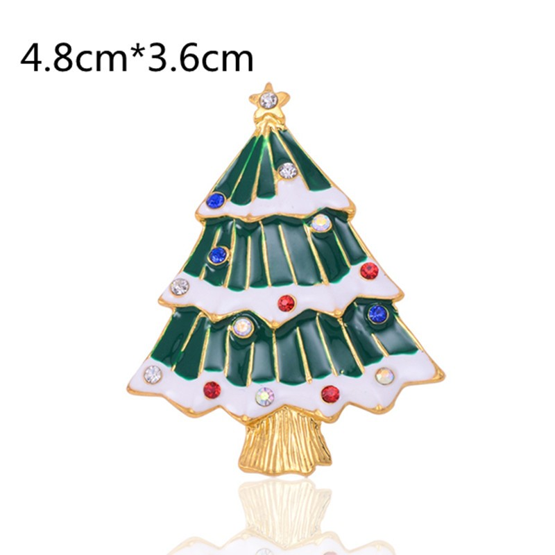 Free-shipping-fashion-brooch-pins-Christmas-gift-Chiristmas-trees-crystal-broches-nice-to-women-X0219