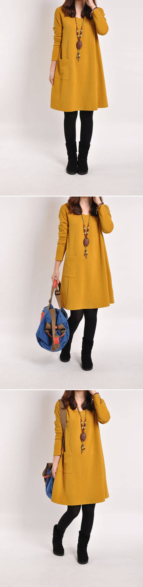 M-2XL  Winter Autumn Casual Maternity Dresses Pregnancy Dress for Pregnant Women Loose Knee-length Ropa  Maternity  Clothes