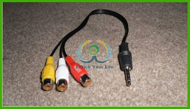 For Nintendo Wii 3 RCA to 3.5mm Jack Convertor Cable Lead(China (Mainland))