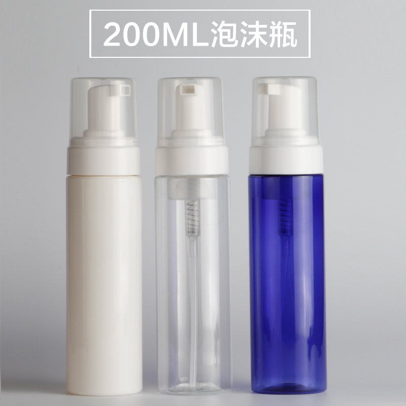 200ML transparent/white/blue foaming PET bottle with foaming pump used for foaming dispenser or soap dispenser cleaner bottle<br><br>Aliexpress