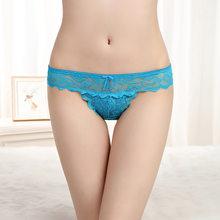 Prettywowgo 1 Uds nueva llegada 2019 ropa interior Sexy mujer encaje transparente Sexy Tanga M L XL 9169(China)