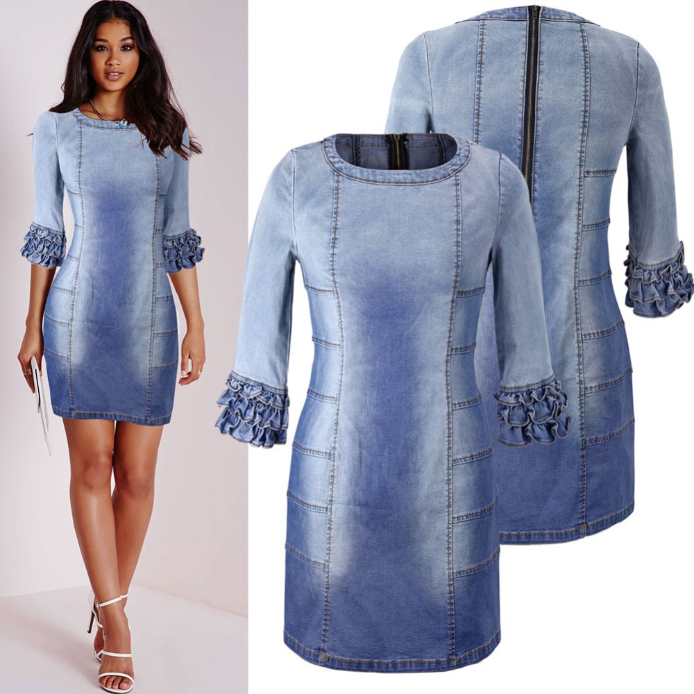 Blue Denim Dresses for Women | Dress images