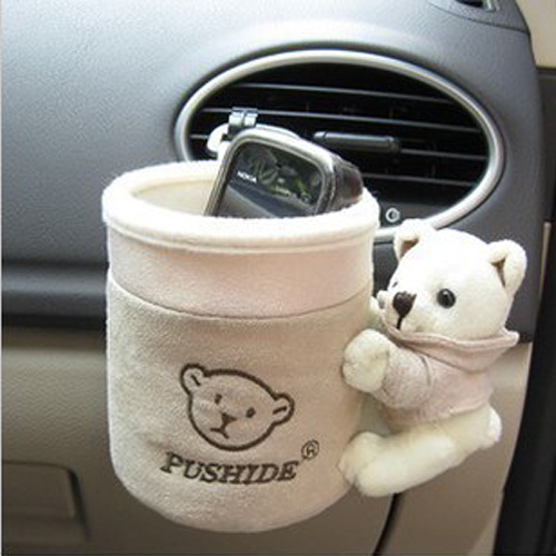 bear car cell phone pocket holder outlet glove bucket auto upholstery decoration supplies innets. Black Bedroom Furniture Sets. Home Design Ideas