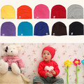 Autumn and Winter Anti head Hat Infant Baby Knitted Cotton Polyester Candy Color Hip Hop Cap