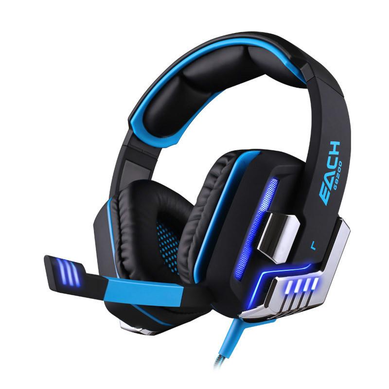 EACH G8200 Gaming Headphones Headset 7.1 Surround Sound USB PC Vibration Computer LED Gaming Headset Headband Noice Cancelling(China (Mainland))