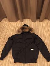 2016 Livraison gratuite Canada Hommes D'hiver Imperméable Respirant manteau en Duvet D'oie veste Loup de col de fourrure Hommes Vers Le Bas veste Parka(China (Mainland))