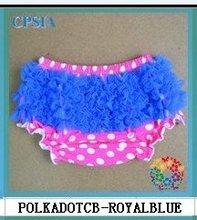 100% cotton chiffon baby ruffle bloomers Chiffon petti panty Chiffon baby shorts   -24pcs/lot(China (Mainland))