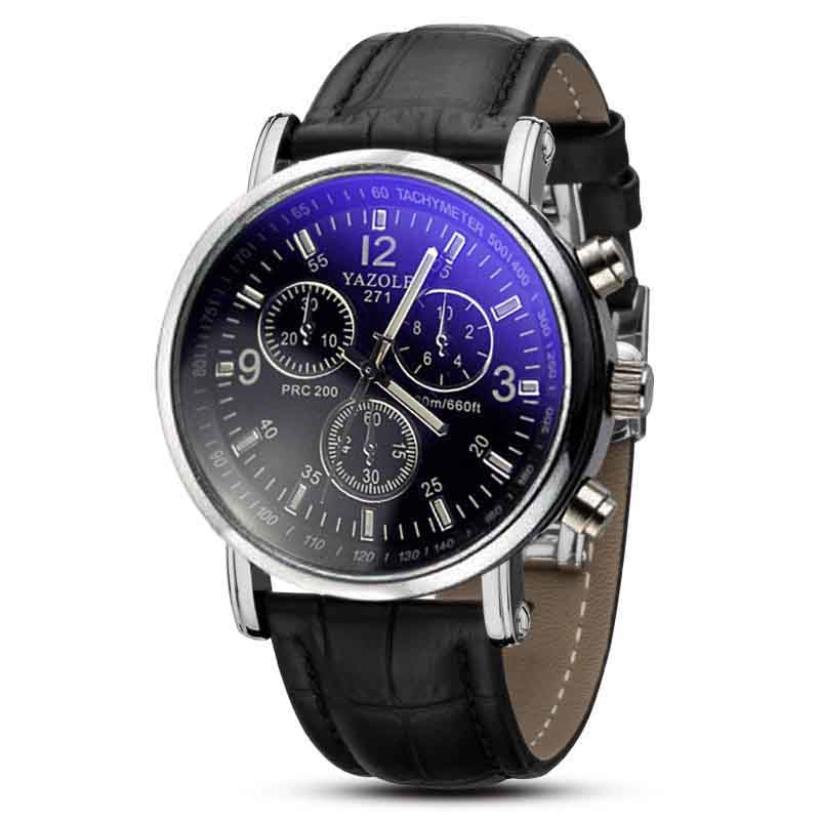 Creative Fashion Men Necessary Business Watch Luxury Crocodile Faux Leather Men Analog Watch