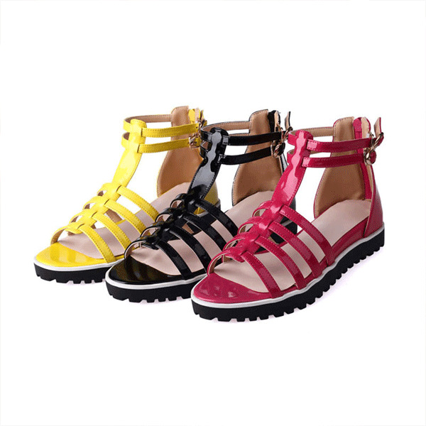 2015 summer fashion peep toe wedge heels solid color zipper wedge sandals breathable and comfortable women shoes D1947<br><br>Aliexpress