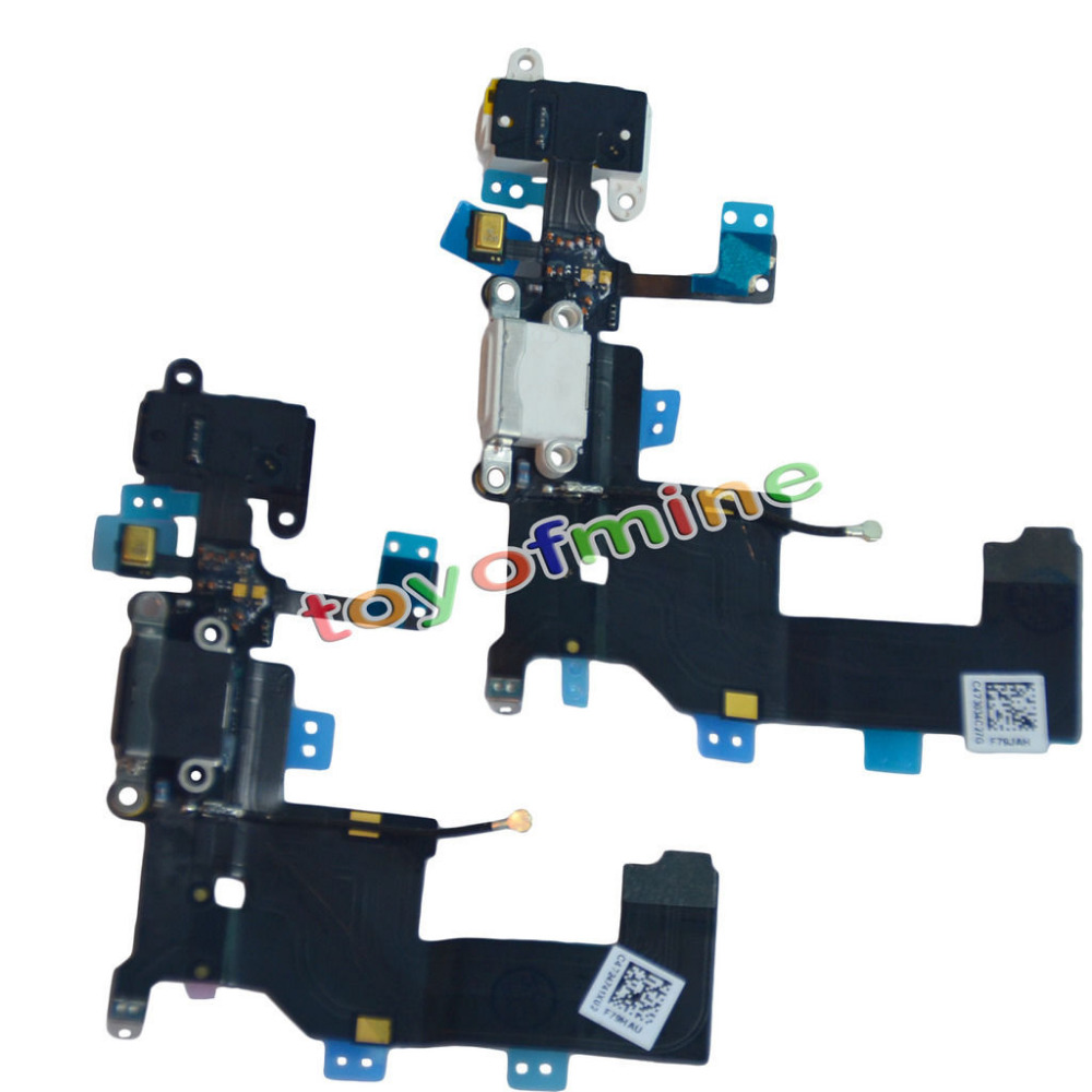 black white Charging Port Dock Connector headphone Flex Cable for iPhone 5 5G(China (Mainland))