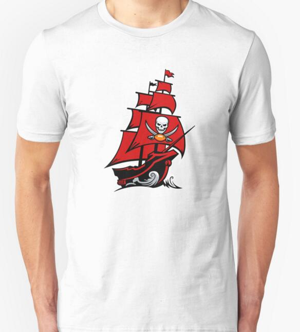 Tampa Bay Buccaneers T-shirts Men Swag Funny Cotton Short Sleeve O-neck Tshirts 2016 New Fashion Summer Style Brand T shirts(China (Mainland))
