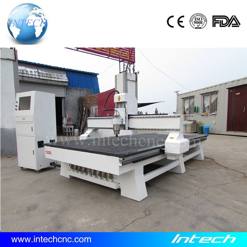 Cost effective cnc router machine 1300x2500 vacuum table Intech cnc router for wood kitchen cabinet door(China (Mainland))
