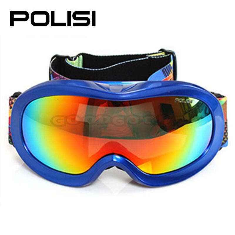 hot sale POLISI P816-BL Children Dual Lens Snow Goggles Kids Winter Snowboard Protective Anti-Fog Glasses Eyewear(China (Mainland))
