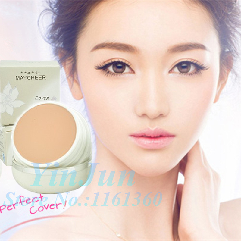 2Pcs 20g/Pc*2 natural beauty Concealer MAYCHEER concealer foundation cream restore skin activity spot cover makeup blush palette(China (Mainland))
