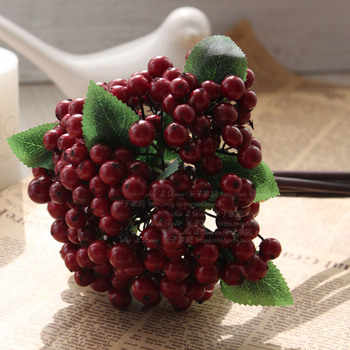2013 Silk flower artificial flower floral dried flowers vine decoration fruit quality goosegog