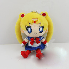 10Pcs/lot FREE SHIPPING Animation Sailor Moon  juniors Cushion 15cm Plush Stuffed Soft Doll Toy(China (Mainland))