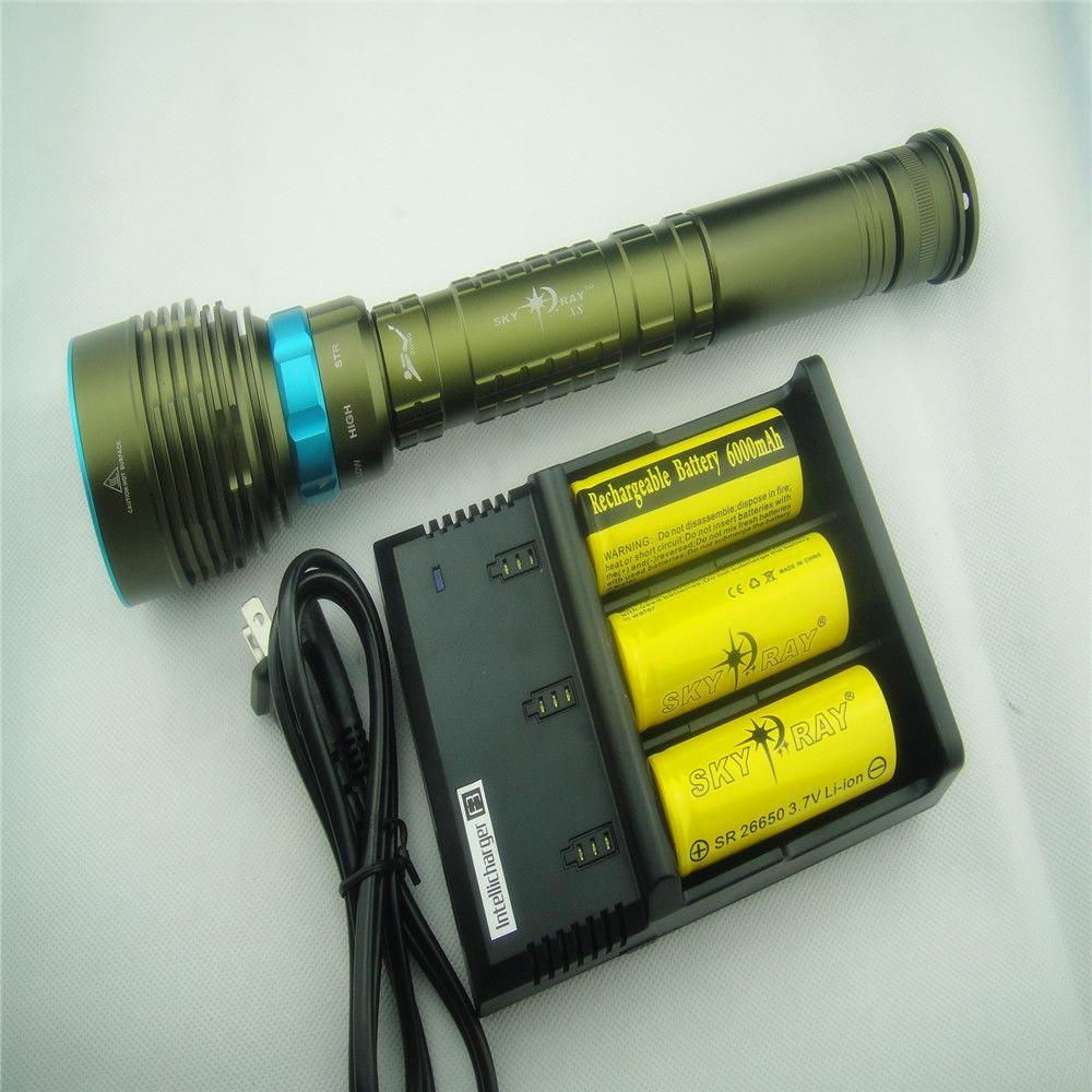 10000Lm 7xCREE XM-L2 LED Scuba Diving Flashlight Torch Light 3x18650/26650 High quality professional New(China (Mainland))