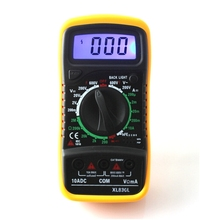 1pcs New XL830L Digital Multimeter Portable multi meter AC/DC voltage amp meter resistance tester Blue Backlight Free shipping