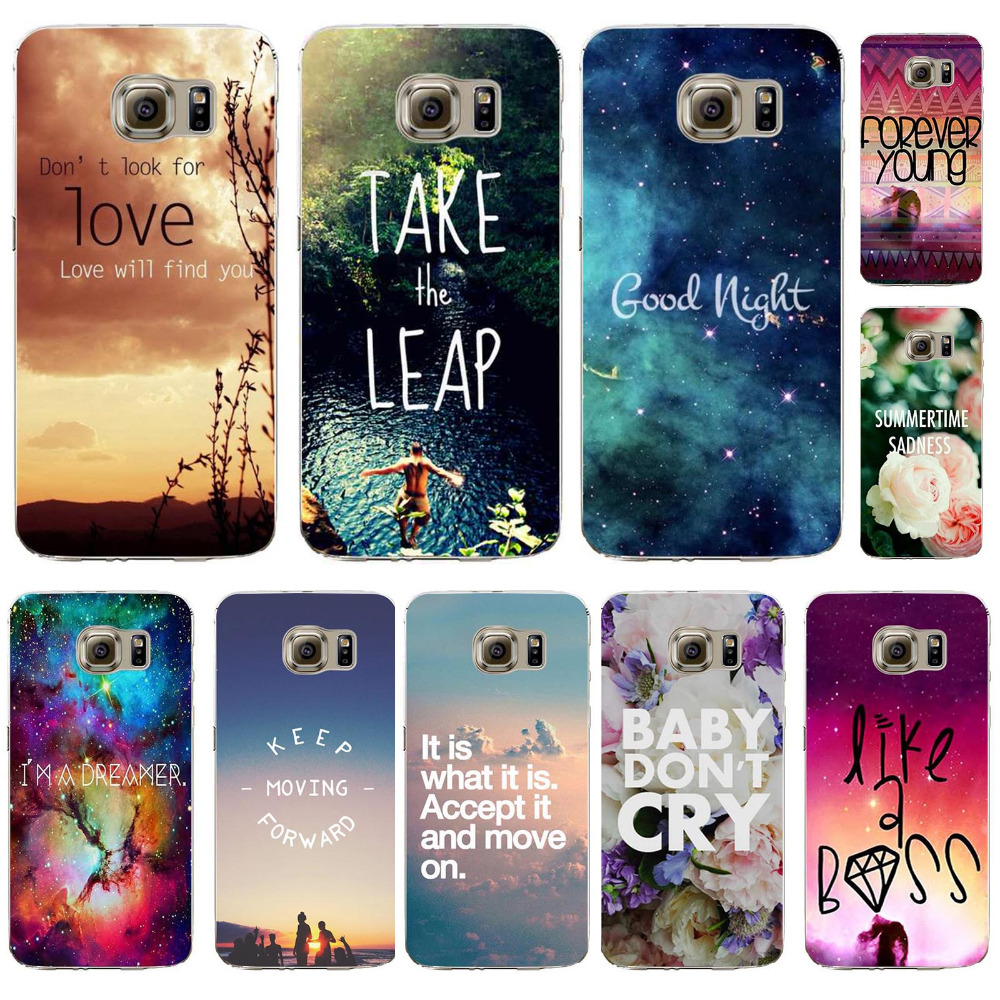 Phone Cover For Samsung Galaxy S6 Soft TPU Beautiful Landscape Romantic Words Designs Silicon Case Populer Pattern Phone Cases(China (Mainland))