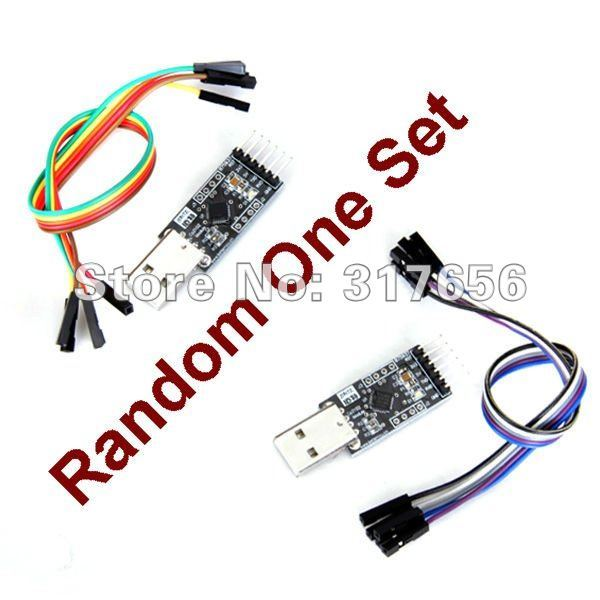Free Shipping by DHL,EMS,FEDEX,NEW USB 2.0 to UART TTL 6-PIN Module Serial Converter CP2102 with Dupont Cables