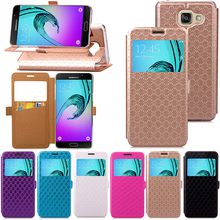 For Samsung Galaxy A3 2016 A310 Case Ling plaid Style Flip Leather Case Hight Quality Stand Cover For Samsung Galaxy A3 2016
