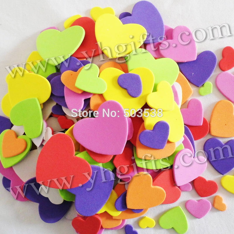 210PCS/LOT.Mixed size heart stickers,Kids toy.Scrapbooking kit.Early educational DIY.Cheap.kindergarten craft