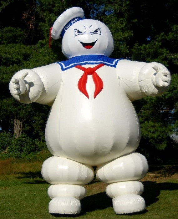 8ft mini Inflatable air dancer, Ghostbusters Stay Puft Marshmallow Man with blower for advertising(China (Mainland))