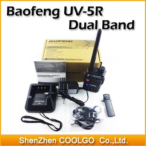 New BaoFeng UV-5R Two Way Radio Dual Band UV5R Walkie Talkie Vhf/uhf Transceiver FM Radio SOS Bright Flashlight Free Earphone(China (Mainland))