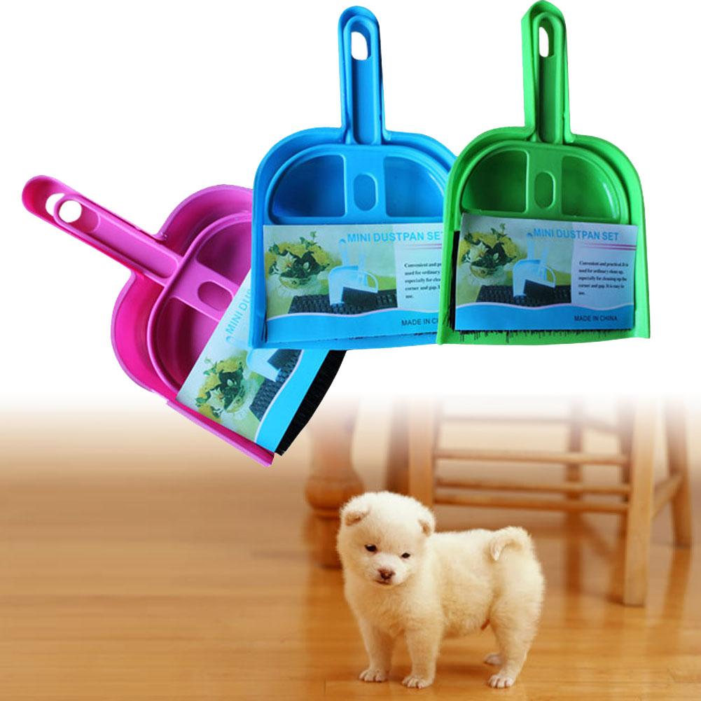 Portable Mini broom dustpan suit pet cleaning broom and dustpan Pet cleaning supplies FG(China (Mainland))