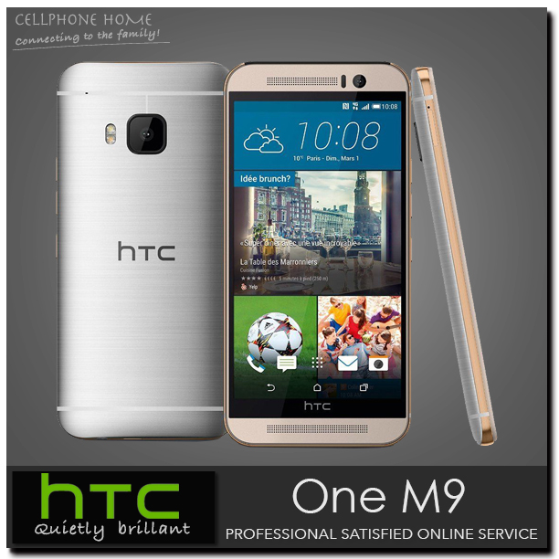Original HTC ONE M9 Unlocked Moblie Phones Octa Core 3GB RAM 32G ROM 5.0 inches 20.7MP Android OS 5.0 Camera 4G LTE Refurbished(China (Mainland))