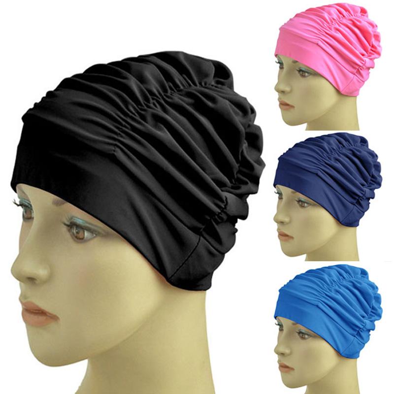 Aliexpresscom Acheter Femmes de natation chapeau plissé
