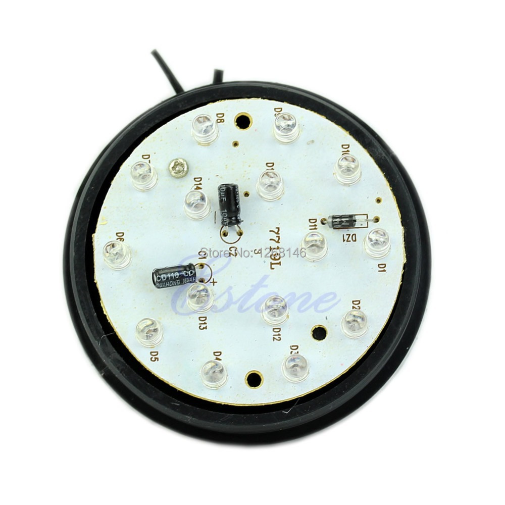 S111 Free Shipping 1 Pieces LED 12V Security Alarm Strobe Signal Warning Blue Red Yellow Flashing