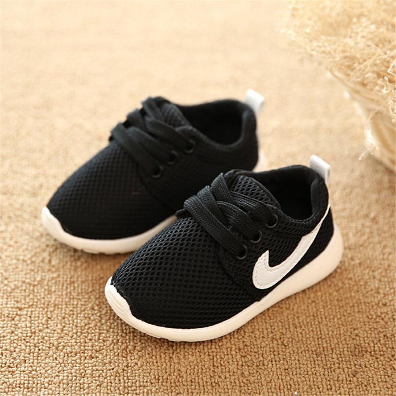 Girls Shoes 2016 Fashion Kids Air Mesh Sneakers Baby Boys First Walkers Children Casual Sport Shoes Size 21-30(China (Mainland))