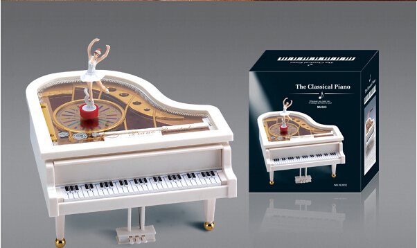 Love Castle In The Sky Piano Dancer Ballet Music Box Toy Valentine's Xmas Gift(China (Mainland))
