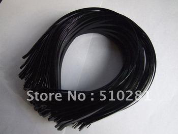 Free ship! Bulk 100piece 5mm Black hair findings accessories metal head band headband