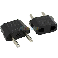 US to EU AC Power Plug Travel Converter Adapter Household Plugs 01N7
