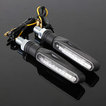 2x Universal Motorcycle Bike 12 LED Turn Signal Indicator Blinkers Light Amber Black Casing Housing