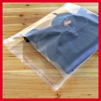 100pcs/lot 35cm*45cm*80Micron High Quality Transparent PE Plastic Gift Bags Clear Self Adhesive Seal Plastic Bags(China (Mainland))