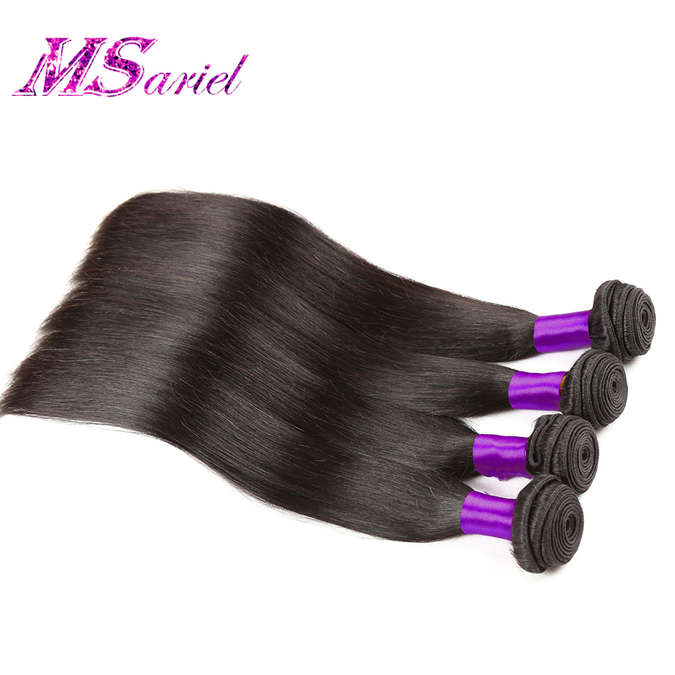Malaysian Virgin Hair Straight 4 Bundles Malaysian Straight Hair 8-30inches Malaysian Hair Weave Bundles Human Hair Extentions