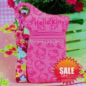 Sanrio hellokitty hello kitty KT girl Mobile phone CELL PHONE BAG PURSE CASE HOLDER pink FREESHIPPING NEW