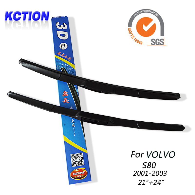 "Car Windshield Wiper Blade For Volvo S80 (2001-2003),21""+24"",Natural rubber, Three-segmental type , Car Accessories(China (Mainland))"