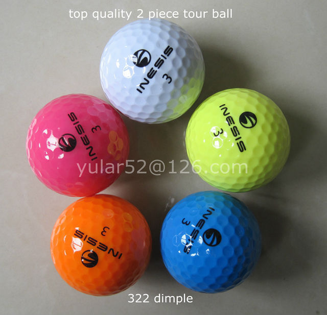 top quality 2 piece golf ball color tour ball 12pcs/box match golf ball(China (Mainland))