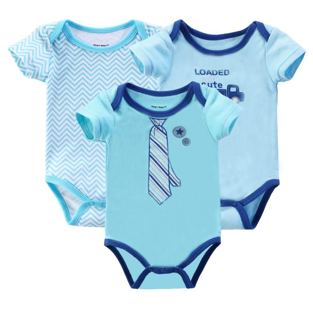 Retail 2016 Baby Girl Bodysuits Body Bebes Newborn 3Pcs/lot Unisex Baby Clothes 100%Cotton Baby Bodysuit Next Baby Clothing Sets(China (Mainland))