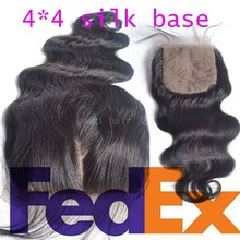 2 3 days Grade 7A peruvian silk base closure 4 4 Free Middle 3 Part Body