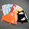 Cute Soft Winter Cotton Baby Sleeping Bag Newborns Infant Child Children Bedding Baby shark pattern Swaddle