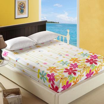 Bedding cotton 100% slanting stripe print fitted piece set fitted four piece set simmons 100% cotton protective case