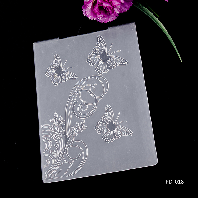 Butterfly And Flower Plastic Embossing Folders for DIY Scrapbooking Paper Craft/Card Making Decoration Supplies