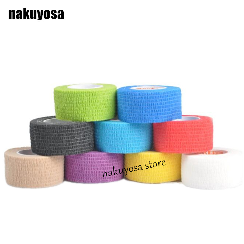 Elastic Adhesive Bandage Finger tape Volleyball New Finger protection 2.5cm x 4.5m Stretched Hot Sale 5rolls/lot(China (Mainland))