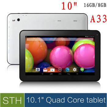 Самый дешевый планшет 10 дюймов а33 четырехъядерных процессоров / две камеры планшет pc1GB / 8 ГБ андроид 4.4 WIFI Bluetooth OTG 5500 мАч / 9 или 7 дюймов планшет